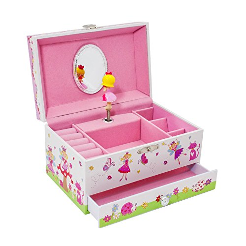 Lucy Locket Enchanted Fairy Kids Musical Jewelry Box - Glittery Kids Music Box by Lucy Locket