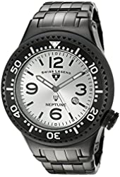 Swiss Legend Men's 21819P-BB-22S Neptune Force Analog Display Swiss Quartz Black Watch