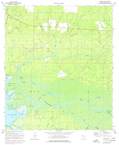 YellowMaps Bunker FL topo map, 1:24000 Scale, 7.5 X 7.5 Minute, Historical, 1970, Updated 1977, 26.6 x 21.9 in - Paper