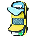 AttachGo Universal Travel Case Organizer Tech Storage Bag for Small Electronics, Smart Phones, Cables, Chargers, Hard Drives, Cameras, Portable Video Game Systems, Batteries, & Accessories -Yellow