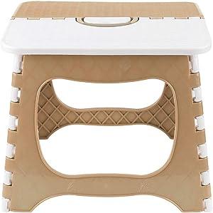 Jeffergarden Super Strong Portable Folding Step Stool for Kids Adults Kitchen Bathroom Garden Step Stool(Beige)