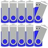 16GB USB 2.0 Flash Drive Swivel Memory Stick Fold Storage Key Thumb Drive Pen, Pack of 50, 286C