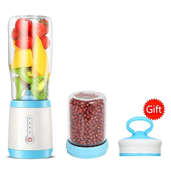 LIRONG Electric Blender Mini Portable Juice Cup USB Rechargeable Mixer 500Ml Sports Mini Juice Cup,Blue