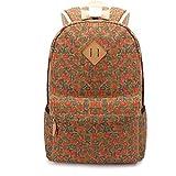 Ordenadores Best Deals - Qiaoshubao Excelente mochila de lona ocasional ocio al aire libre del ordenador portátil del hombro del paquete del bolso (caqui)