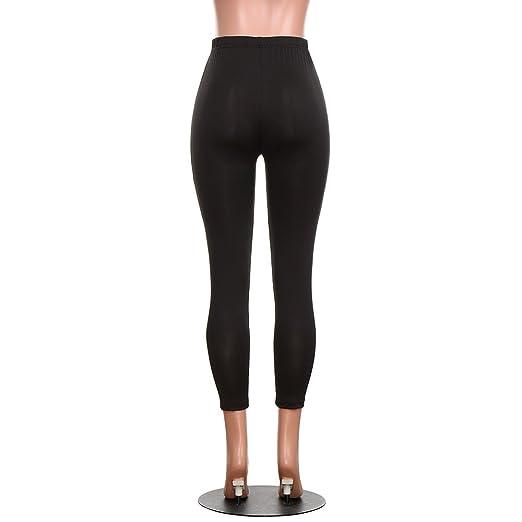Pantalones Leggings Vestir Deportivos Yoga para Mujer Otoño Invierno 2018 PAOLIAN Pantalone Running Fitness Moda Cintura Alta Jogger de Chandal Casual ...