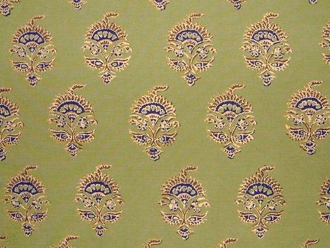 Memories of Shalimar ~ Asian Oriental Green King Duvet Cover 108x90