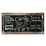 25 X 12 Rustic Style Wood Framed Erasable Chalkboard Message Memo Board, Cafe Menu Sign