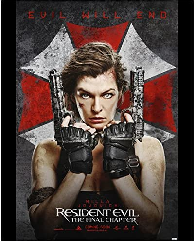 Resident Evil The Final Chapter 2016 11 Inch By 14 Inch