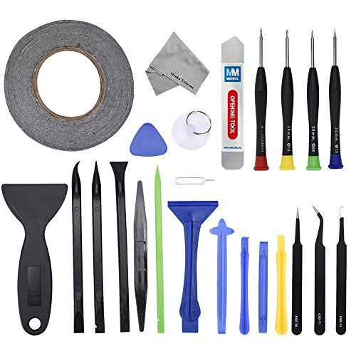 (MMOBIEL 24 in 1 Professional Repair Toolkit Screwdriver Set incl 2mm Adhesive Tape for Various Smartphones and Tablets)
