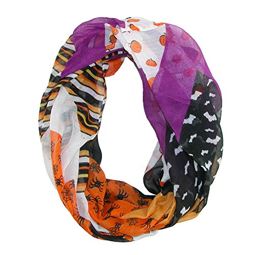 David & Young Women's Halloween Holiday Infinity Loop Scarf