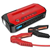 jump starter 18000mah - iClever 600A Peak 18000mAh Portable Jump Starter (up to 6.5L gas or 4.0L diesel Engine) Auto Battery Booster, Power Bank and Phone Charger with Dual USB Ports, Car Charger and AC Adapter