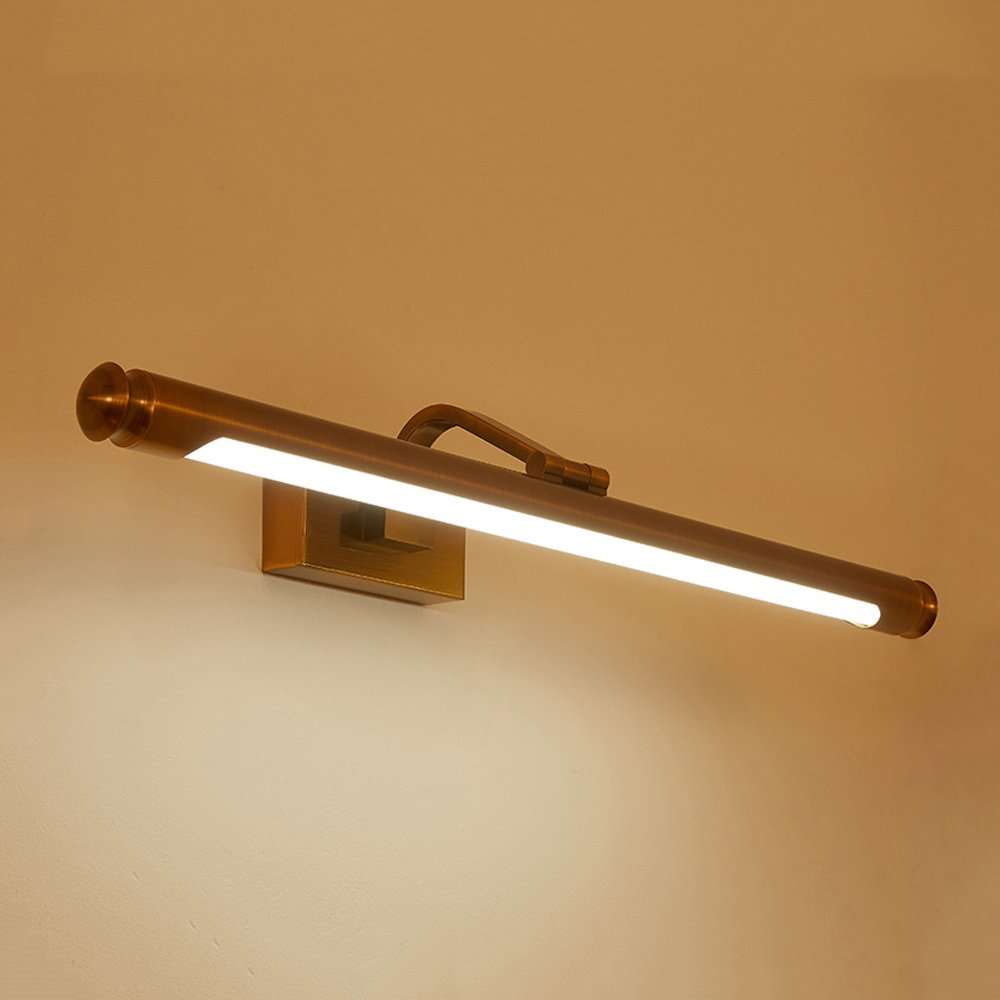 LED wall lamp LZC 31-40W Simple originality Modern fashion Voltage 110-240V Brass lamp body Bedroom Living room Shower Room Mirror Mirror front lamp (Brass color)