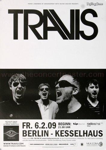 Travis - Berlin 2009 - Poster, Concertposter, - Berlin Travis