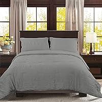Light Grey HONEYMOON HOME FASHIONS Seersucker Queen Comforter Set Bedding 3PC