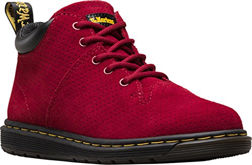 Dr. Martens Kids Parker J Perforated Suede Leather Dark Red Ankle Boots Size 1