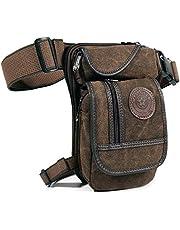 Canvas Tactical Military Waist Pack Pouch Outdoor Drop Leg Bag Waist Bag Fanny Packs Tactical Leg Bag Thigh Pouch Bag Crossbody Bag
