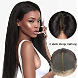 Eayon Hair 13x6 Lace Front Wigs Human Hair Brazilian Virgin Hair Silky Straight Lace Wigs with Baby Hair for Women Natural Color 12 inch