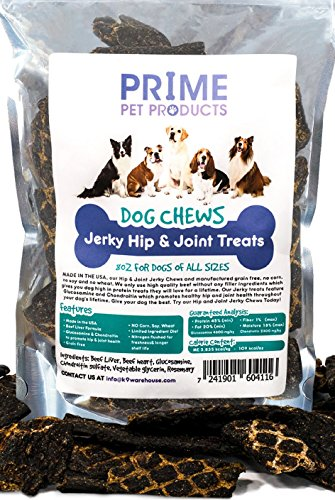 Dog Biscuits Glucosamine (K9KONNECTION Healthy Jerky Dog Treats Made in USA (8oz Bag) - Source Glucosamine Hip & Joint Supplement Dogs - Best Grain Free Treat Pain Relief - Beef Liver Formula All Breeds - No Corn, Soy Wheat)