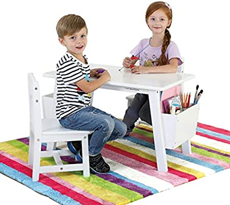 Table & Chair Sets Mesa de Estudio para niños de Madera Maciza con ...