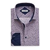 Best Man Buttons - Alex Vando Mens Printed Dress Shirts Regular Fit Review