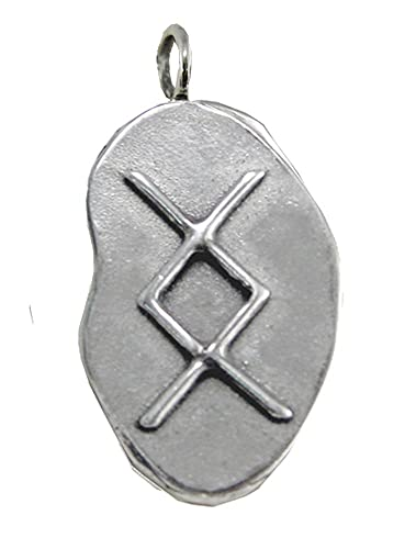 Amazon Sterling Silver Inguz Rune Pendant Symbol For Success In