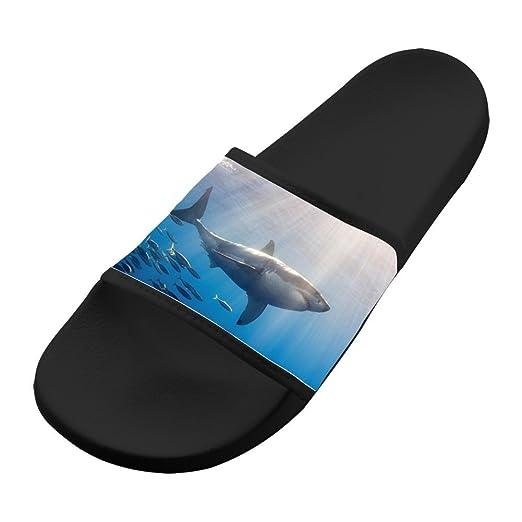 d08b166064dec Amazon.com: Deep Sea Shark Slippers Casual Walking Sandals Lovers ...