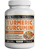 Turmeric Curcumin Supplement Capsules with Bioperine Joint Support and Pain Relief Organic All Natural Antioxidant Gluten Free Lactose Free Non-GMO Pills Made in USA Review