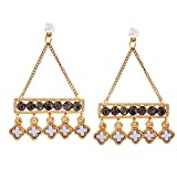 Maayra Party Earrings Alloy Dangler Drop Black White Hanging Jewellery