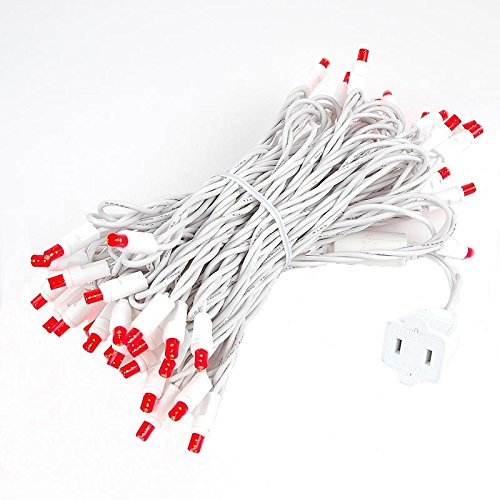 Red Led Christmas Lights White Wire in US - 3
