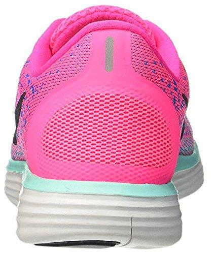 Zapatillas De Running Nike Free Rn Para Mujer Hyper Pink, Black, Blue Glow, Hyper Turquoise