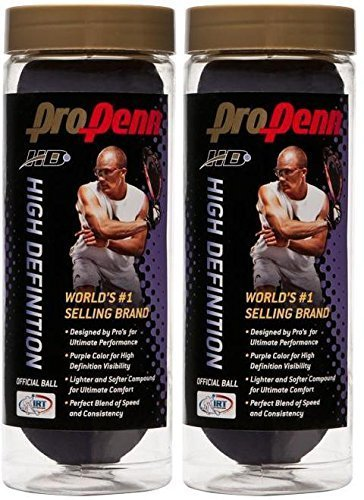 Penn PURPLE PRO HD RACQUETBALL 3/CN (Two cans) by Penn (Image #1)