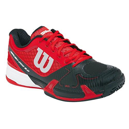 Wilson Rush Pro 2.0 Clay Court, Zapatillas de Tenis Unisex Adulto Rojo / Negro / Blanco
