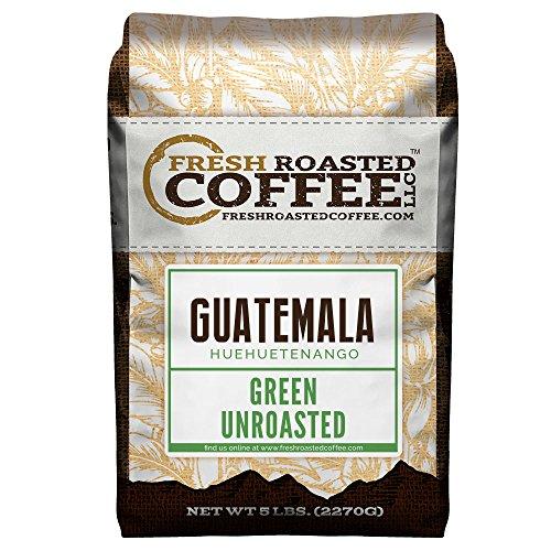 Green Unroasted Coffee, 5 Lb. Bag, Fresh Roasted Coffee LLC. (Guatemala Huehuetenango)
