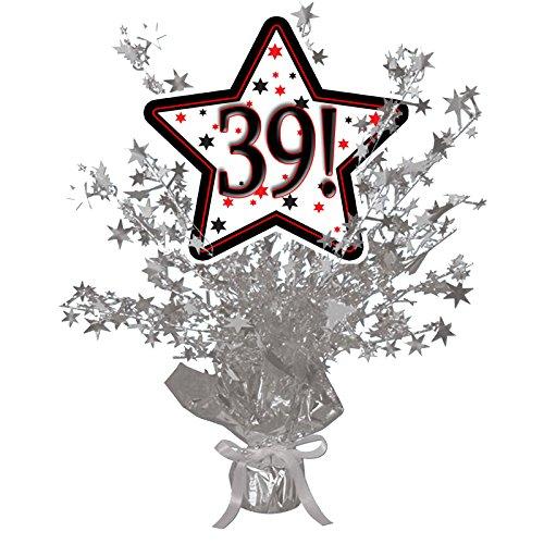 39! SILVER STAR CENTERPIECE