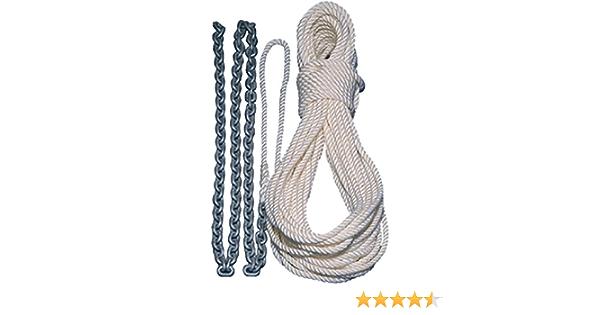Lewmar 5 1//4 G4 Chain 100 1//2 W 5//16 Rope