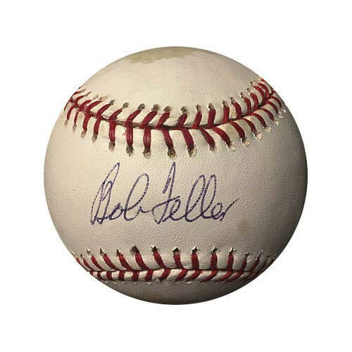 Bob Feller Autographed Signed Memorabilia MLB Baseball Tone/Spots- PSA Hologram #K78796 Indians Bob Feller Mlb Baseball