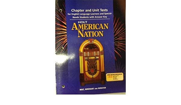 Holt american nation chapter and unit tests with answer key holt holt american nation chapter and unit tests with answer key holt rinehart winston 9780030653230 amazon books fandeluxe Gallery