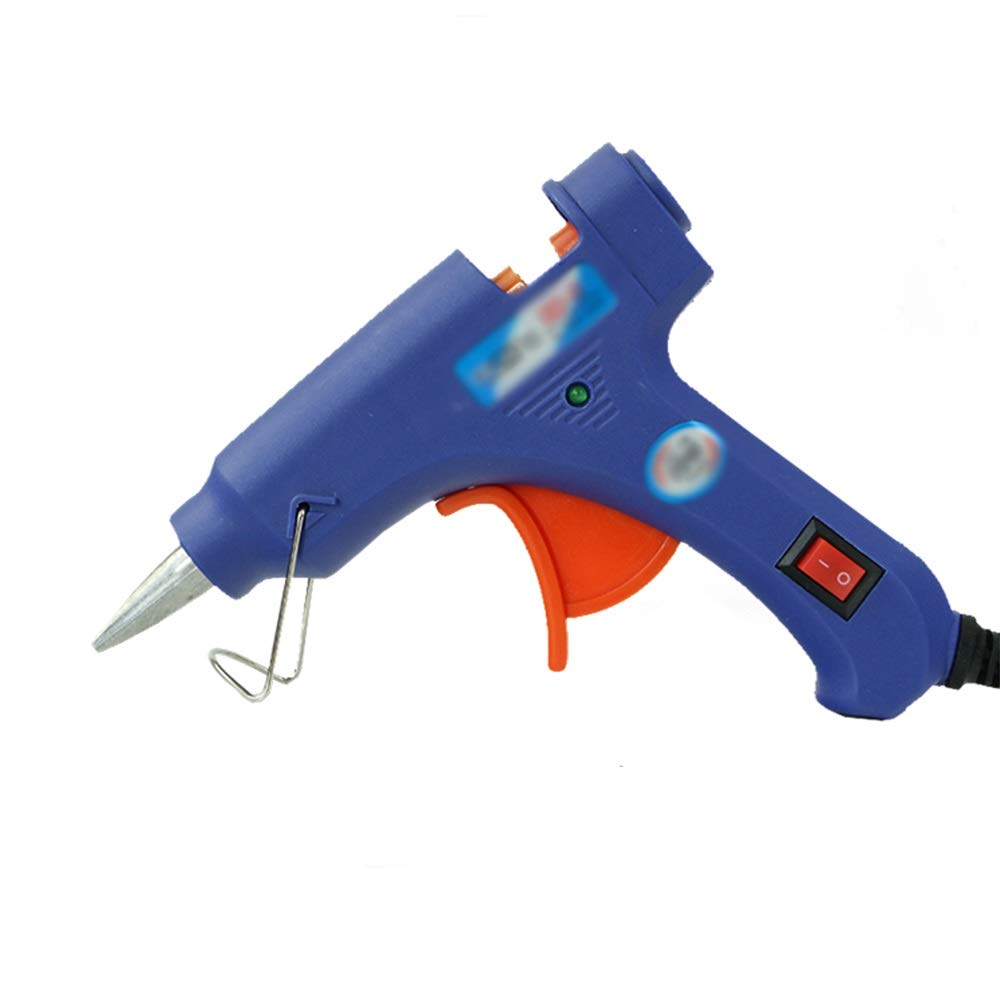 GYZ Hot melt Glue Gun - -7mm Glue Stick 20W Manual Glue Gun Electric Glue Gun - Suitable for DIY Crafts Decoration, Home Quick Repair, Holiday Decoration (Blue) Hot Melt Glue (Color : I)