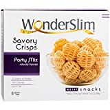 WonderSlim High Protein Savory Crisps – Party Mix (10 Servings) – Low Fat, Gluten Free, Sugar Free, Cholesterol Free