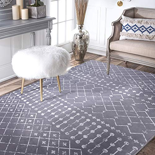 Diamond Area Rug Polypropylene Modern Durable Fashionable Living Room Indoor Outdoor Soft Carpet 4'x 6'7