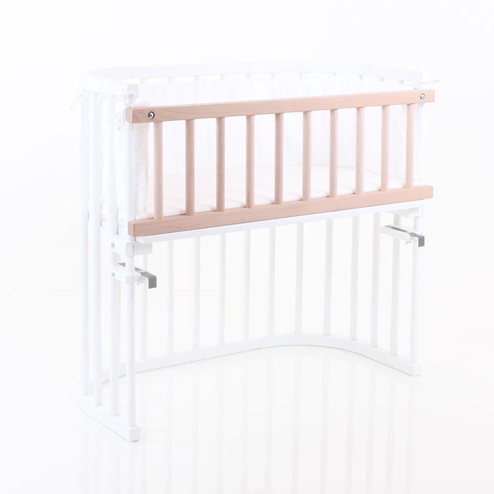 importado de Alemania Barrera de seguridad para cuna Babybay 100202 color blanco
