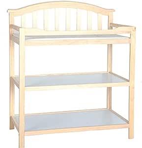 Portable Changing Mats Diaper Table Multifunctional Crib Newborn Storage Storage Bath (Color : Brown, Size : 91.5 * 46.5 * 104cm)