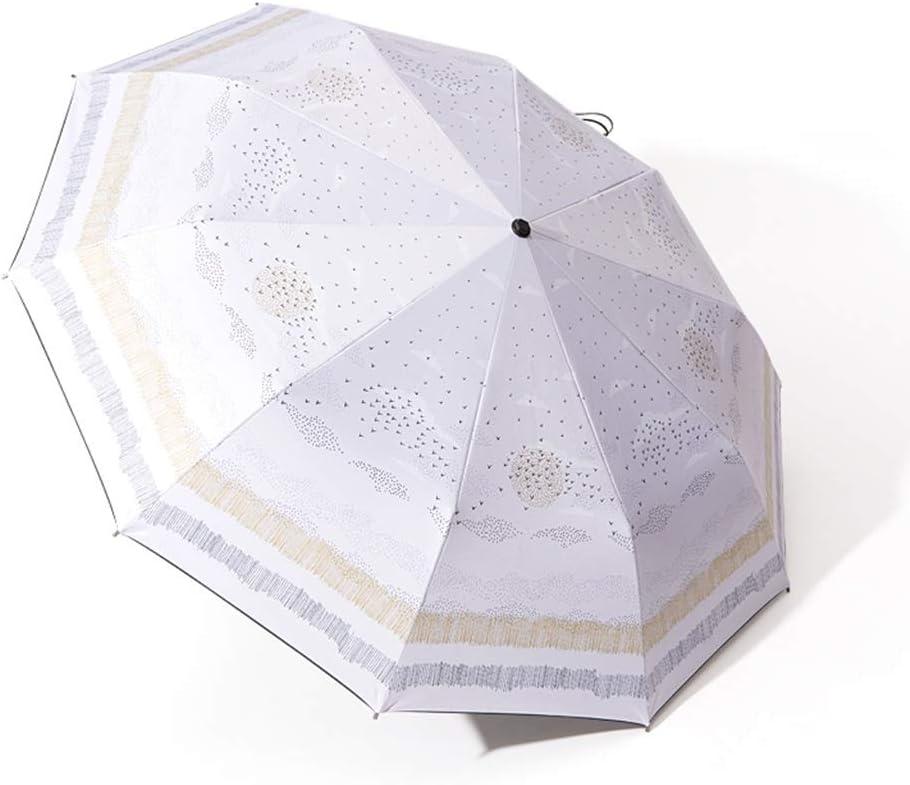 Umbrella Sunshade Sun Protection UV Folding Folding Double Umbrella Dual Use 10 Bone Umbrella Frame Three Fold Umbrella