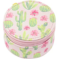 Karma Gifts Round Travel Case, Cactus