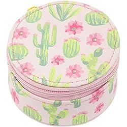 Karma Gifts Round Travel Case, Cactus