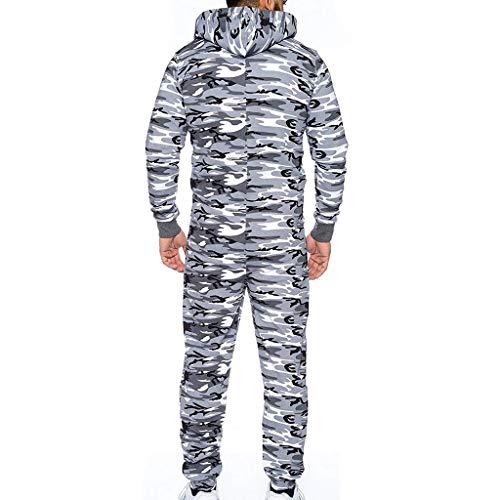 Men Women Camouflage Pocket Jumpsuit Romper