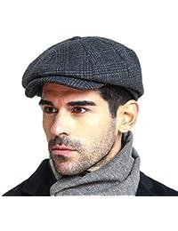 Men s Newsboy Gatsby Hat Vintage Beret Flat Ivy Cabbie Driving Hunting Cap  for Boyfriend Gift 90c682fb2a7d