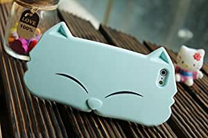 Cat Case Blue Face - Soft Case with cute face - practical case cover | No Frills No Fuss No Mess | Slim ( Fits iphone 5, iPhone 5S )