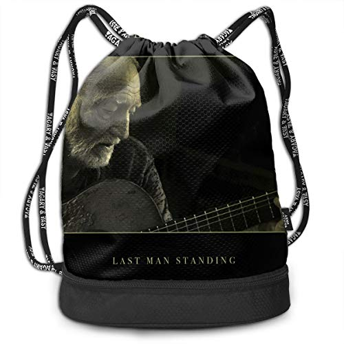 Thomas S Thoms Willie Nelson Last Man Standing Original Shoulder Bag Drawstring Backpack Beam Mouth Single Pocket Outdoor Shopping Bag Backpack