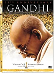 Sir Ben Kingsley stars as Mohandas Gandhi in Lord Richard Attenborough's riveting biography of the man who rose from simple lawyer to worldwide symbol of peace and understanding. A critical masterpiece, GANDHI is an intriguing story about act...